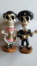 Bobblehead Figurines Lot of 2 Halloween Dancers skeleton