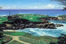 """Larry Dyke """"Ocean Challenge"""" golf greens surrounded  by the sea LTD ED  S/N  COA"""