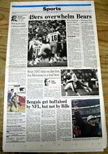 <1989 newspaper SAN FRANCISCO 49ERS WIN NFC 2 meet CINCINNATI BENGALS Super Bowl