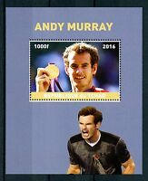 Chad 2016 MNH Andy Murray 1v M/S Tennis Sports Stamps