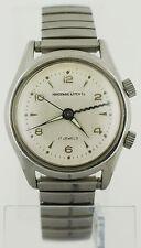 Rare Vintage 1950's Abercrombie & Fitch Co Wrist Alarm Watch Steel A Schild 1475
