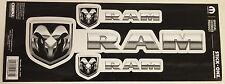 Dodge decal sticker car auto set 3 ram  stick on truck window windshield