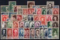 AE141105/ FRANCE / LOT 1938 - 1950 MINT MNH CV 202 $