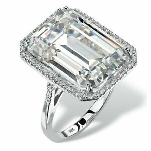 RARE & HUGE 43.30 Ct Off White Diamond Ring With Diamonds Accents WATCH VIDEO