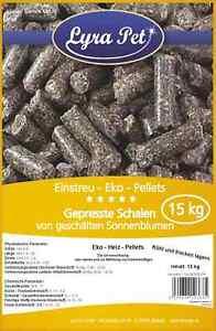 2 x 15 kg EKO Pellets aus Sonnenblumen Schalen Einstreu Heizen ÖKO Lyra Pet®