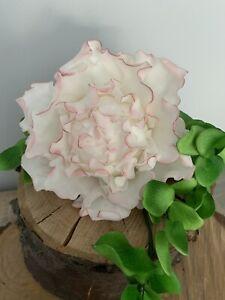 Large Peony Flower With Eucalyptus Cake Topper/Decoration