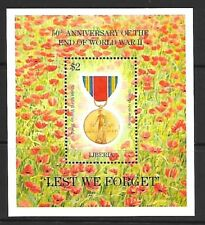 1995 Liberia miniature sheet featuring 50th Anniv. of the end of WWII UMM