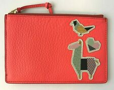 Fossil Women's RFID Small Pouch Bag Neon Coral Orange $50