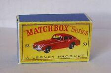 Repro box MATCHBOX 1:75 Nº 53 Aston Martin de nouveaux