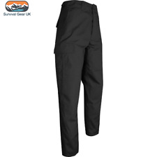 "Viper Táctico Airsoft UNIFORME BDU Pantalones Cargo Combate Cintura Negro 36"" para hombre"