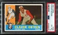 1960 Topps Baseball #206 CLAUDE OSTEEN Cincinnati Reds PSA 6 EX-MT