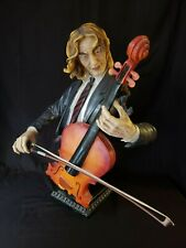 "Jazz Band Collection - Cellist Cello Player 24"" Bust Statue Sculpture"