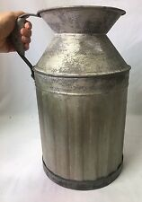Metal Milk Jug Vintage Inspired Antique Reproduction Country Farmhouse Large 15""