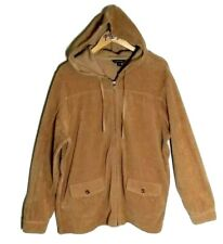 Lands' End tan jacket hoodie XLarge coat corduroy texture cotton blend stretchy