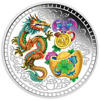 2018 Blessing 1oz Silver Proof Coloured Coin