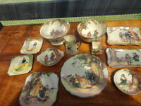 Twelve Pieces Royal Doulton Robin Under the Greenwood Tree Series