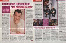 Coupure de presse Clipping 2003 Christophe Dechavanne  (2 pages)