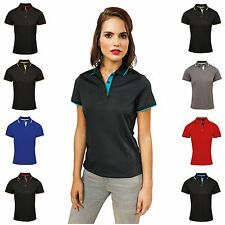 Womens Sports Polo Shirt Golf T-Shirt Tee Top Lightweight Breathable Ladies 8-18