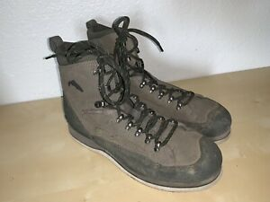 SIMMS Freestone FELT SOLE Wading Boot Men's 11 Fly fishing Grey Color