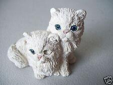 Stone Critter Cat Longhair White Kitty Figure United Design
