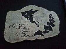 "10.5""X 7.5"" Cement Garden Stepping Stone-I Believe In Fairies"