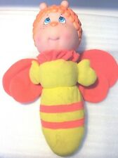 """Vintage 1984 Soma Glow Worm Bee Butterfly Firefly Bug 12"""" Plush Head Lights Up"""