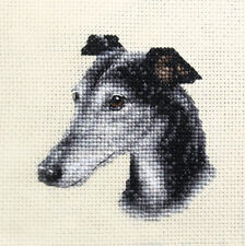 GREYHOUND ~ Puppy, Dog, Full counted cross stitch kit + all materials