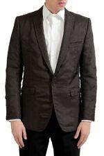 "Dolce & Gabbana ""Martini"" Men's Wool Silk Brown Blazer Sport Coat US 38 IT 48"