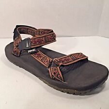 MEN'S TEVA Strappy Sandals  Sz 10M INDIAN SYMBOLS Brown Strap