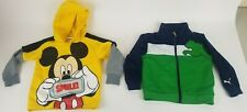 Disney Mickey Mouse Smile Hoodie Sweater & Puma Sweater Sz 3T Toddler Super Cute
