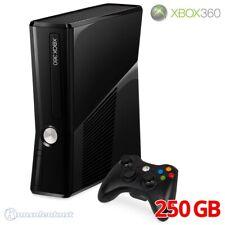 Xbox 360 - Konsole Slim 250GB #glossy-schwarz + Original Controller + Zub.