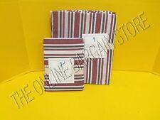 Pottery Barn Kids Lakehouse Stripe Duvet Cover Bed Twin Standard Sham Red