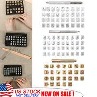 26/36pcs Leather Stamp Alphabet Number Metal Punch Set Logo Stamp Craft Tool Kit