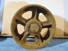 """The Fairbanks Co. 6.5"""" X 2.5"""" Used heavy Caster Wheel Hit Miss Engine Truck Cart"""