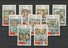 Laos MiNr 638 - 646 gestempelt,  Astronautenteams der russischen Raumfahrt