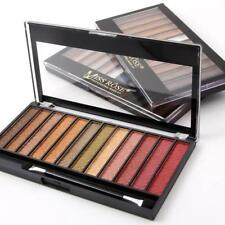 Professional Miss Rose 12 Colors Eyeshadow Palette Shimmer Makeup Eye Shadow