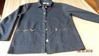 KORET K-WEAR - Women's PETITE SMALL -  Jacket Navy GOLD BUTTONS- POCKETS