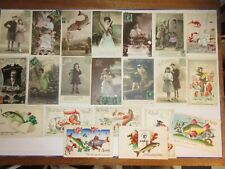 LOT de 21 cartes postales anciennes 1er AVRIL