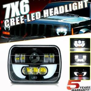 270W 7X6 5X7 LED Headlight  High Low For Chevrolet Jeep Cherokee XJ YJ Ford