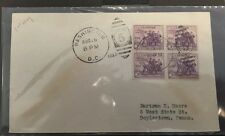 #732 Washington, DC, Block Of 4, First Day Cover