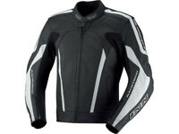 iXS Lederjacke Kuma | Schwarz-Weiß | Motorradjacke aus Rindsleder