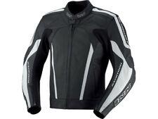 iXS Leather Jacket Kuma Black White Biker Jacket Made of Cowhide Leather