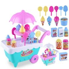 Ice Cream Car Shop Pretend Play Food Toy Set Music Lighting for Kids Play Toys