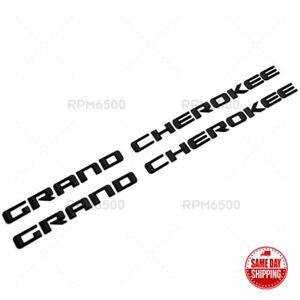 2x OEM High Quality Grand Cherokee Altitude Emblems Nameplate Jeep Badges Black