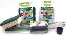 1x Dishmatic pulizia riempire e pulire Dispenser, non Scratch & HEAVYDUTY ricariche