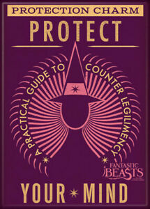 Fantastic Beasts Protect Your Mind 2 1/2 in. x 3 1/2 in Magnet