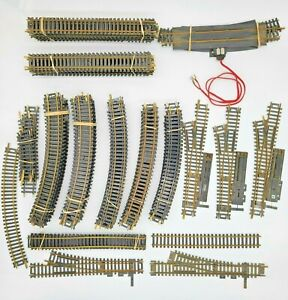 HO SCALE LARGE ASSORTMENT OF BRASS TRACK-ENOUGH FOR A LAYOUT