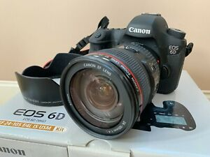 Canon EOS 6D 20.2 MP Digital SLR Camera with EF 24-105mm IS USM Lens + Extras!