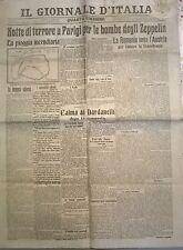 WW1-1915 -  NOTTE DI TERRORE A PARIGI PER BOMBE DEGLI ZEPPELIN 640