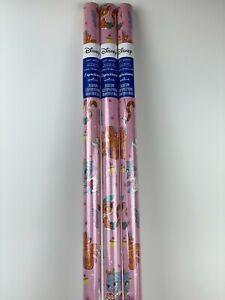 3 New PALACE PETS Holiday CHRISTMAS 20sq ft WRAPPING Paper PINK Princess CAT Dog